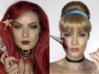 These Disney Princesses Halloween makeup ideas will give you nightmares