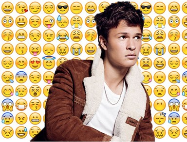 "Ansel Elgort looks just like an emoji in this new ""Allegiant"" pic"