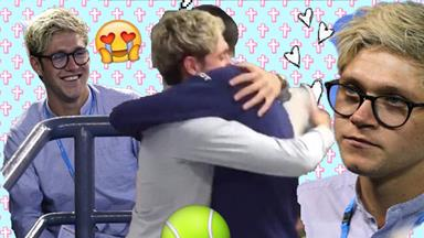 Tennis' #1 fanboy Niall Horan had the best time ever at the Australian Open