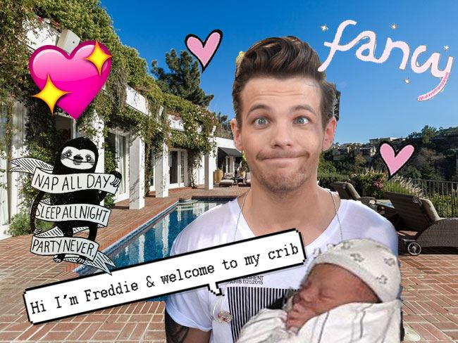Louis Tomlinson is totally got this hiatus lifestyle thingy perfected. Since becoming a daddy, Papa Lou has been renting a US$70,000 a MONTH mansion in the Hollywood Hills, and it's quite ~charming~...