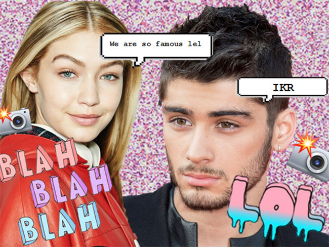 Gigi admits her and Zayn work well together cos they are both so ~famous~