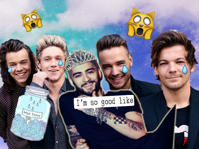 Sorry boys, Zayn Malik is currently smashing One Direction in the charts