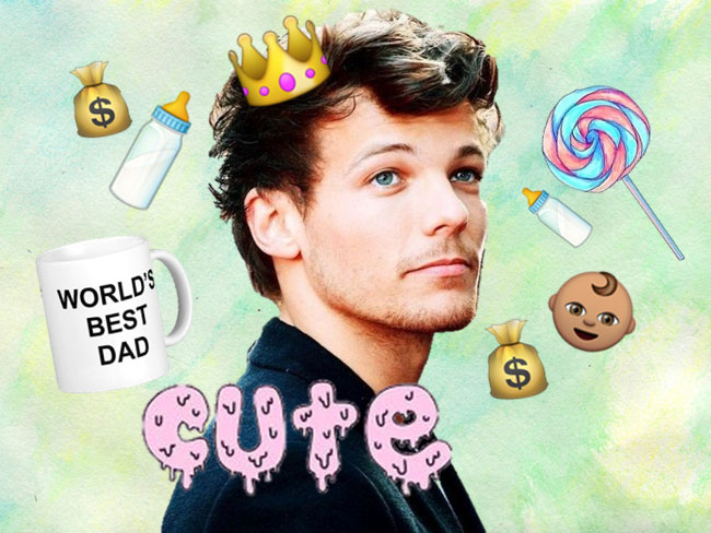 Louis has gone on a crazy shopping spree for baby Freddie Reign