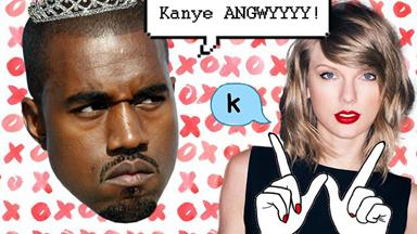 Kanye is attacking Taylor Swift again...