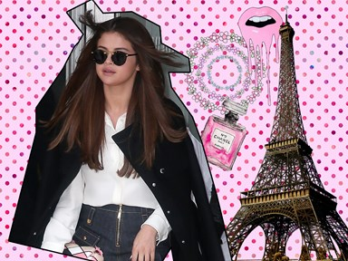 Selena Gomez looked like a total queen in the #FROW at Paris Fashion Week