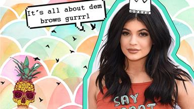 We *might* be gifted with a Kylie Jenner eyebrow kit real soon