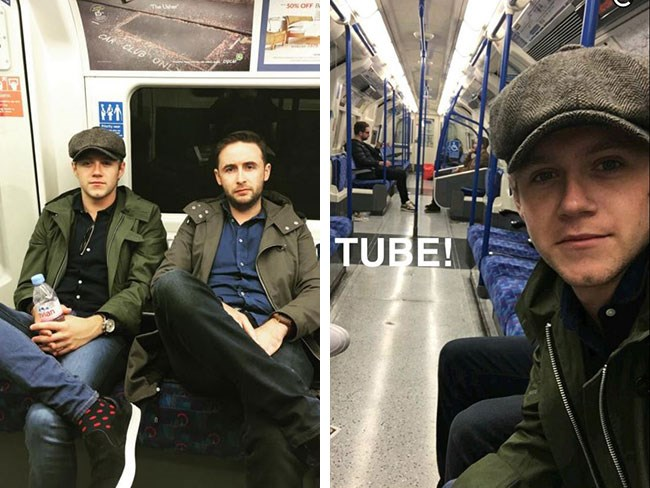 Niall Horan, Prince of our Hearts, has once again been cruising around Londontown via the Tube (aka the underground train system) like a regular peasant. TBH we can't believe he hasn't been swamped by fangirls espesh since he was wearing his ~signature baker boy hat~ but seems no-one noticed, or believed they'd see Niall freakin' Horan on public transport.