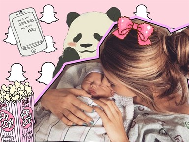 Baby mama Briana Jungwirth snapchats her day out with baby Freddie