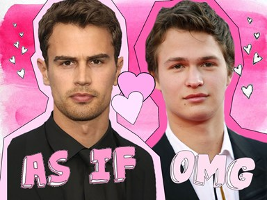 Ansel Elgort has completely transformed into Theo James