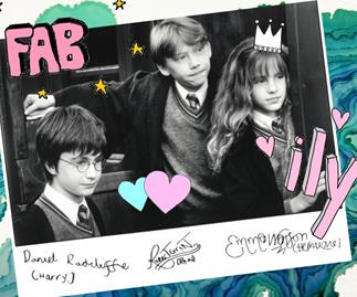 Harry Potter, Ron Weasley, Hermione Granger