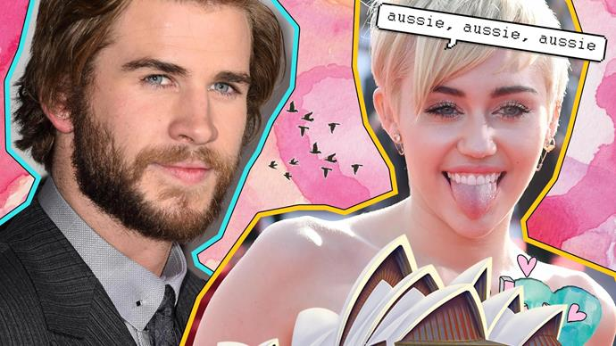 Miley Cyrus Liam Hemsworth Australia