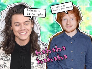 This Harry Styles and Ed Sheeran face swap will actually give you nightmares