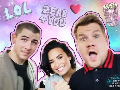 Watch a sneak peek from Demi Lovato's and Nick Jonas' Carpool Karaoke!