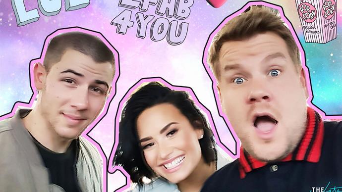 Nick Jonas, Demi Lovato, James Cordon Carpool Karaoke