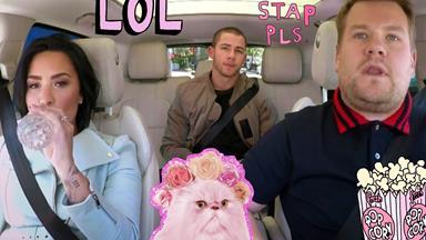 Demi Lovato's & Nick Jonas' Carpool Karaoke is HERE!