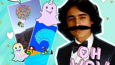 This uni kid is earning mega-bucks for his ~amazing~ animated Snapchats