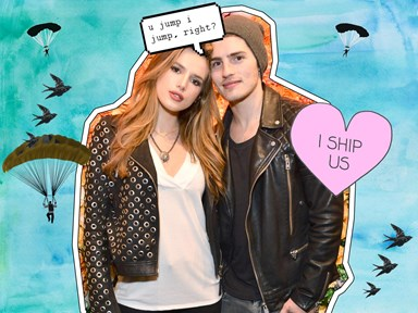 Bella Thorne celebrates her one-year anniversary with Gregg Sulkin by jumping out of a plane