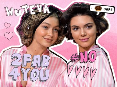 This farshun kween has *sorta* roasted Kendall and Gigi for their modelling skillz