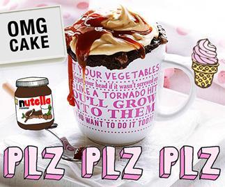 Microwave snacks in a mug