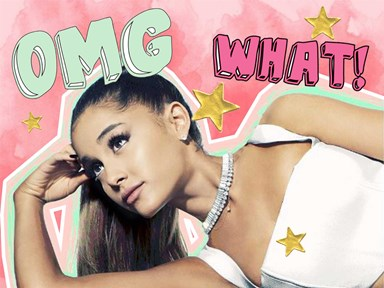 Ariana Grande is so dedicated to that #PonytailLyf, she cuts holes in her hats