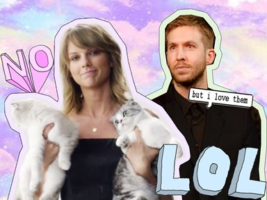 """Apparently Taylor Swift has given Calvin Harris """"visitation rights"""" to see her cats"""