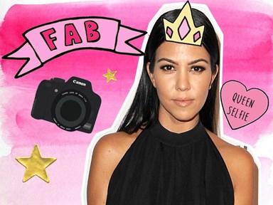 Kourtney Kardashian just revealed her amazing selfie hack and everything makes sense now