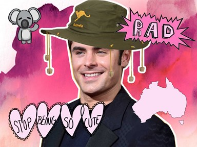 Zac Efron attempts to do an Aussie accent and as Aussies, we're swooning