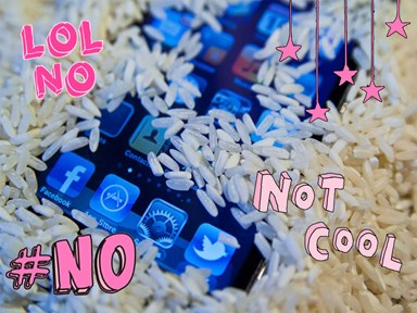 Stop drying your wet phone with rice and use this instead!