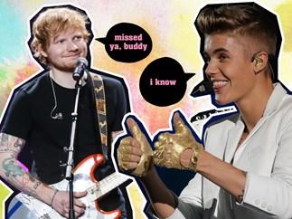 Ed Sheeran, Justin Bieber