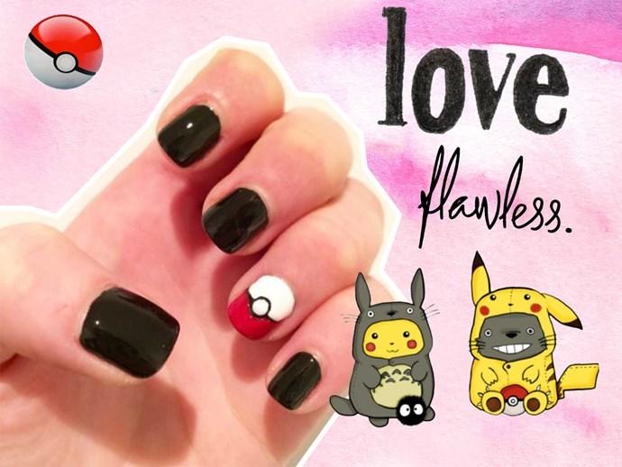 Pokémon Go nail art