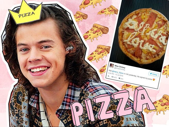Harry Styles pizza