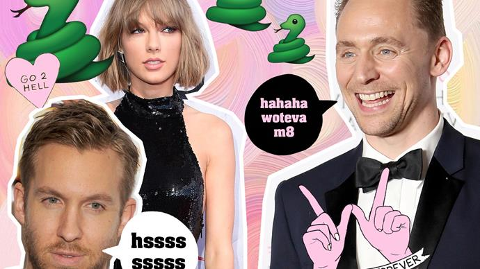 Calvin Harris, Taylor Swift, Tom Hiddleston