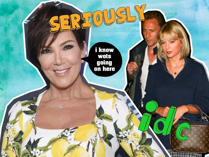 Kris Jenner, Taylor Swift, Tom Hiddleston