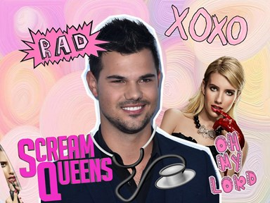 Your first look at Taylor Lautner on set for Scream Queens