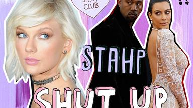 Something's a bit suss about that note Taylor Swift wrote explaining Kimmy K's video
