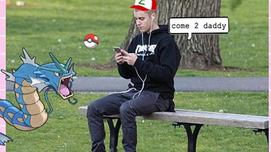 Justin Bieber casually joined a crowd of Pokémon Go players in NYC