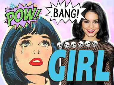 "Vanessa Hudgens as a comic book ~kween~ for her new show ""Powerless"" is EVERYTHING!"