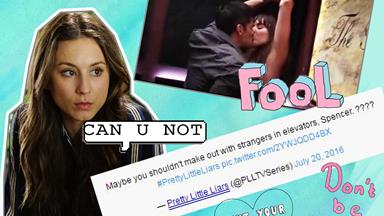 Troian Bellisario drags the official PLL Twitter account for shaming Spencer