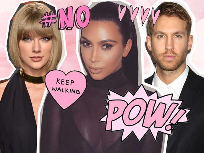 Kim Kardashian, Calvin Harris, Taylor Swift