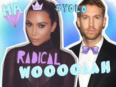 Kim Kardashian and Calvin Harris party together and we're sensing an alliance here