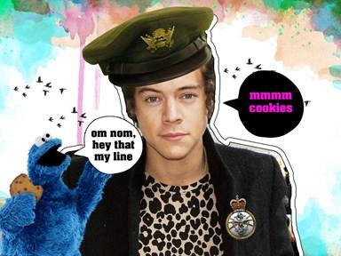 We interrupt your school day to inform you Harry Styles has been stealing cookies
