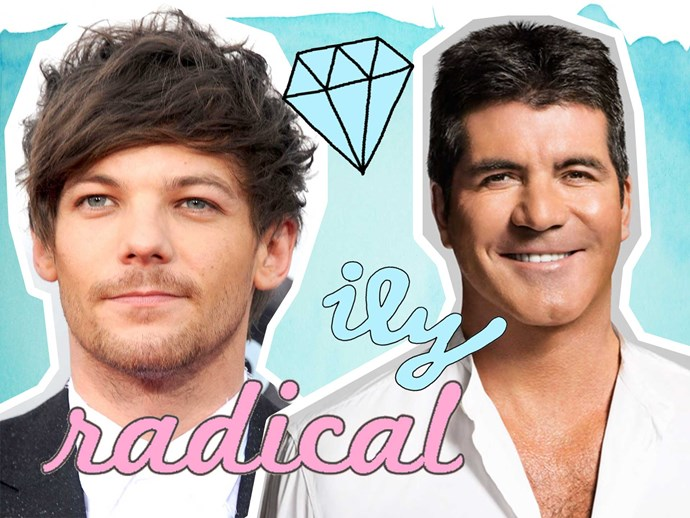 Louis Tomlinson and Simon Cowell creating girl One Direction