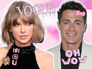 Colton Haynes on cover Vogue with Taylor Swift