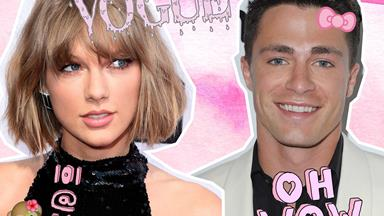 Colton Haynes appears on the cover of Vogue with Taylor Swift