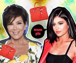 Kris Jenner handbag wardrobe