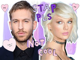 Calvin Harris isn't impressed about this Taylor Swift joke