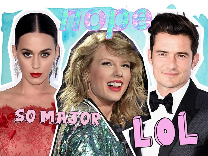 Taylor Swift is laughing at Katy Perry and Orlando Bloom