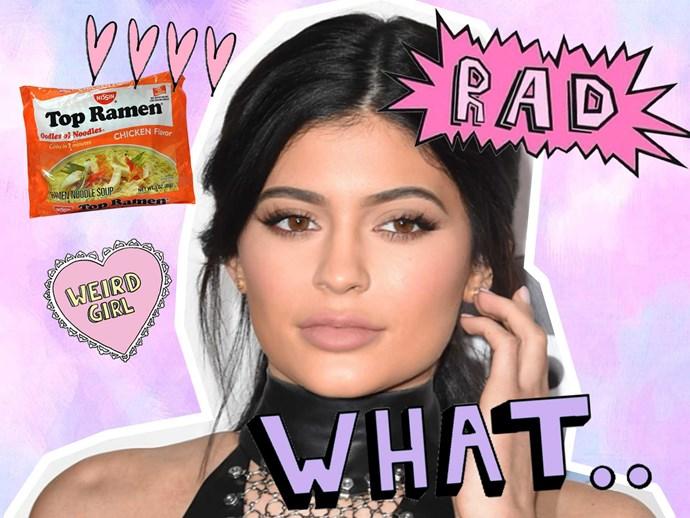 Kylie Jenner calls on ramen noodle eaters via Twitter