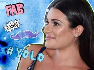 Lea Michele waxes upper lip