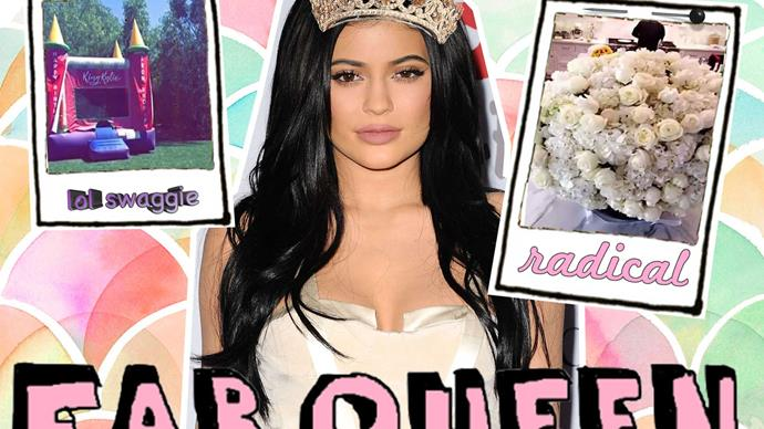 Kylie Jenner snapchats her second birthday party